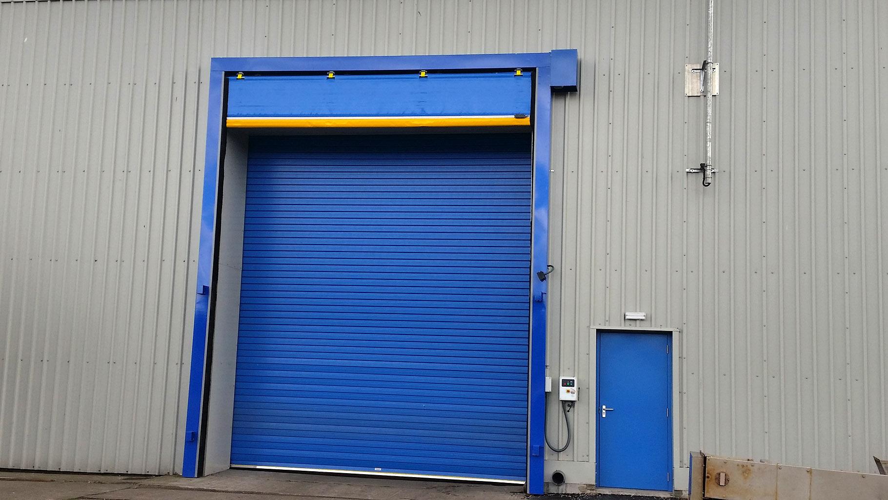 Insulated Highspeed Roller Shutter Industrial Door