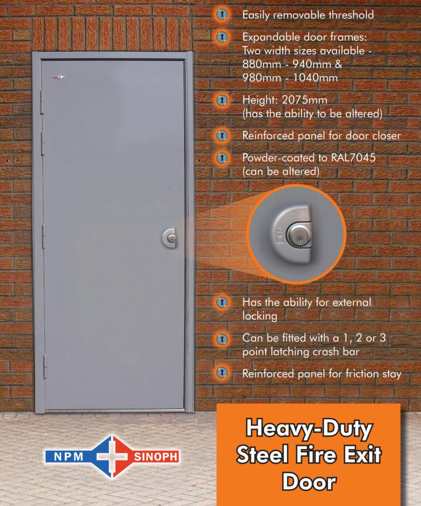 Heavy Duty Steel Fire Exit Door Industrial Door Specialists